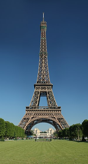 Landmark - The Eiffel Tower - tallest in the world from 1889 to 1930 and a famous Paris landmark