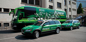 Direct Énergie (cycling team) - 2011 Europcar team support vehicle convoy