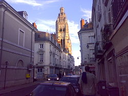 Tours Cathedral from Rue Lavoisier