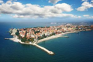 Town of pomorie aerial boby dimitrov