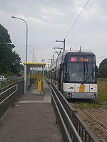 Tram 8 aan P+R Wommelgem.jpg