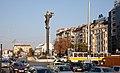 Tram in Sofia near Sofia statue 2012 PD 010.jpg