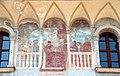 Trento, palazzo geremia, con affreschi di scuola veronese o vicentina del 1490-1510 ca. 03.jpg