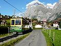 Triebwagen der Wengernalpbahn in Grindelwald.jpg