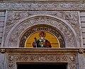 Trieste Tempio serbo-ortodosse della Santissima Trinità e di San Spiridone Außen Lato Ovest Timpano.jpg