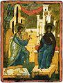 Troitskiye tabletki - Nativity of Jesus (back) Annunciation.jpg