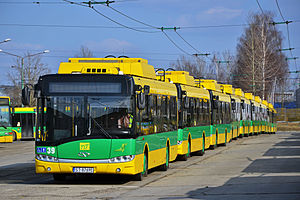 Trolleybuses in Tychy - Trolleybusses in depot