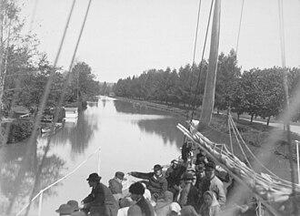 Göta Canal - Trollhätte Canal, from an albumen print taken ca. 1865-1895