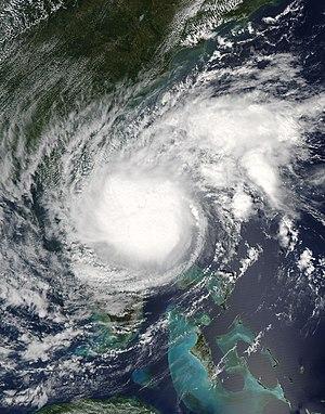 Hurricane Ophelia (2005) - Tropical Storm Ophelia near the Bahamas on September 8