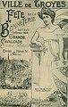 Troyes - Fête de la Bonneterie 1909 - Renée Küntz Reine des Reines.jpg