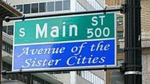 Main Street - sign for South Main Street, Tulsa, Oklahoma