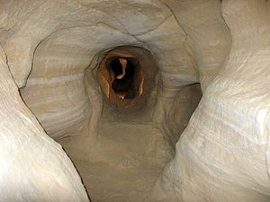 Timna Valley - Chalcolithic copper mine in Timna Valley.
