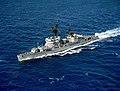 Turkish destroyer TCG Alçıtepe (D-346) underway in the Mediterranean Sea on 19 May 1983 (6474638).jpg