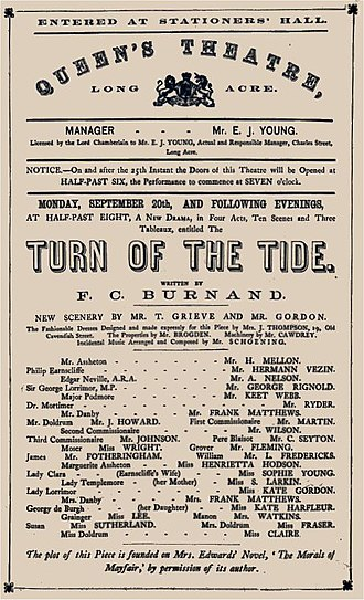 George Rignold - 1869 programme featuring Rignold