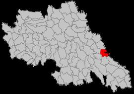 Localização no condado de Iași