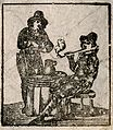 Two 17th century gentlemen, possibly Cavaliers, smoking a pi Wellcome V0019138.jpg
