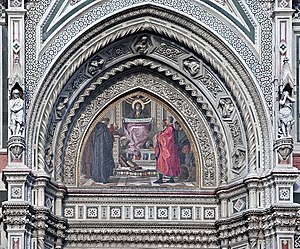 Nicolò Barabino - Mosaic Left Tympanum of Cathedral of Florence