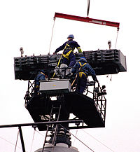 Type 996 Radar Aerial is Lifted by a Crane for Maintenance MOD 45137989.jpg