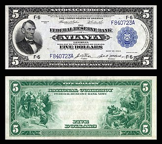 Federal Reserve Bank Note - Image: US $5 FRBN 1918 Fr.790