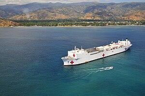 USNS Mercy off Dili
