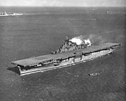 USS Essex (CV-9) in Hampton Roads on 1 February 1943 (NNAM.1996.488.242.078)