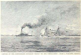 CSS Selma (1856) - Selma is captured by Metacomet