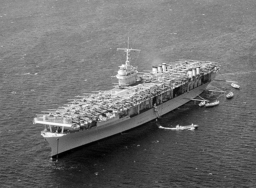 USS Ranger (CV-4) at anchor on 8 April 1938 (520732)