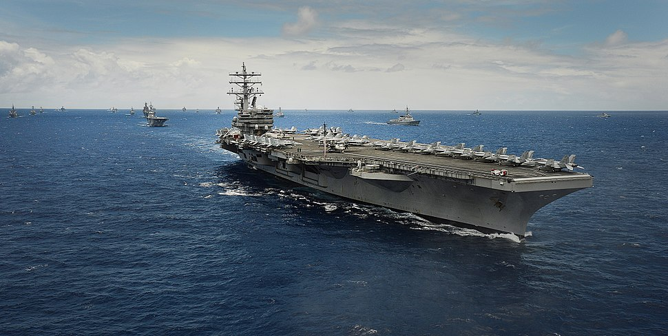 USS Ronald Reagan in 42 ship & sub fleet at RIMPAC 2014
