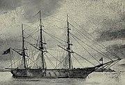 USS Savannah 1844 OldNavyDays