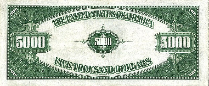 File:US $5000 1934 Federal Reserve Note Reverse.jpg
