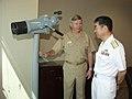 US Navy 040517-N-3925A-004 Rear Adm. Yukinori Togo, Commander Japanese Maritime Self Defense Force (JMSDF) Training Squadron, right, meets with Vice Adm. Mike McCabe, Commander Third Fleet.jpg