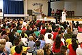 US Navy 070320-N-3271W-001 Cmdr. Paul Spear, commanding officer of USS Tucson (SSN 770), speaks to the student body of Erickson Elementary School about life on a submarine.jpg