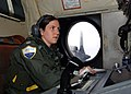 US Navy 070329-N-0260R-002 U.S. Navy Patrol Plane Tactical Coordinator and Mission Commander, Lt. Colleen Stephens of Patrol and Reconnaissance Squadron (VP) 4, monitors maritime contact data while on a flight over the coast of.jpg
