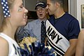 US Navy 071129-N-2855B-040 Deputy Secretary of Defense Gordon England cheers on the Navy Cheerleaders and the Navy Band during their visit to the Pentagon to show spirit and enthusiasm for the upcoming 108th Army-Navy Game.jpg