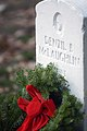 US Navy 071215-N-0502M-038 The final resting place of Private Denzil McLaughlin, a World War I veteran, receives a holiday wreath during the annual Wreaths Across America wreath-laying ceremony.jpg