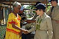US Navy 080828-N-5086M-073 Rear Adm. Christine S. Hunter greets a local Micronesian woman.jpg
