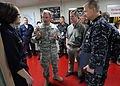 US Navy 100308-N-5961C-008 Lt. Gen. Ken Keen speaks with Sailors aboard the Military Sealift Command hospital ship USNS Comfort (T-AH 20).jpg