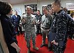 US Navy 100308-N-5961C-008 Lt. Gen. Ken Keen speaks with Sailors aboard the Military Sealift Command hospital ship USNS Comfort (T-AH 20).jpg