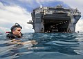 US Navy 100922-N-1531D-157 USS Iwo Jima Sailors participate in a swim call.jpg