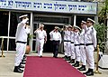 US Navy 110412-N-ZB612-065 Chief of Naval Operations (CNO) Adm. Gary Roughead salutes Israel Naval Forces sailors after meeting with Vice Adm. Eli.jpg
