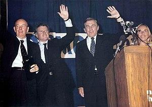 Dudley Dudley (politician) - Senator Tom McIntyre, Senator Ted Kennedy, Governor Hugh Gallen, and Executive Councilor Dudley