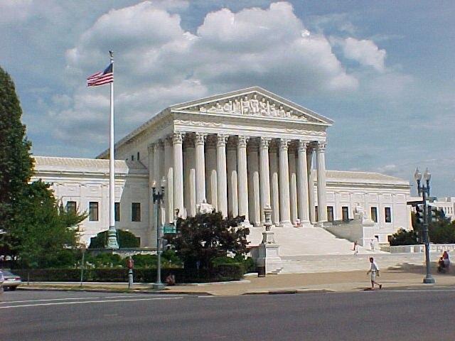 Het gebouw van het Amerikaanse Federaal Hooggerechtshof in Washington, D.C.