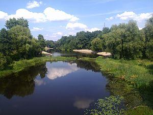 Olevsk - Image: Ubort River in Olevsk 03