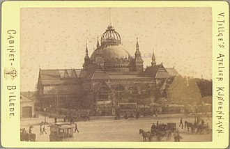 Nordic Exhibition of 1888 - The great hall of the Nordic Exhibition of 1888, photographed by Vilhelm Tillge