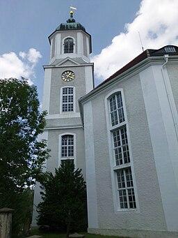 Uhyst am Taucher, Autobahnkirche. 1801 geweiht. Westseite