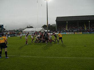 Rugby union in Ireland - Ulster against Edinburgh in the Celtic League.