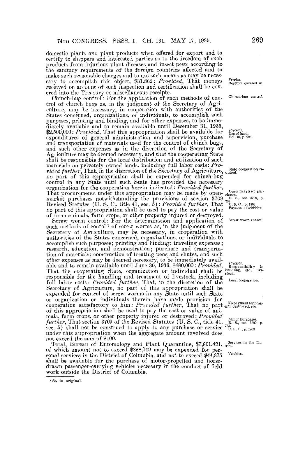 Pageunited States Statutes At Large Volume 49 Part 1vu314