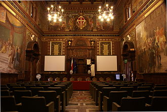 Macerata - The great hall of the University.