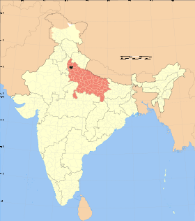 Uttar Pradesh district location map Meerut.svg