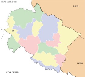 Uttarakhand locator map.svg
